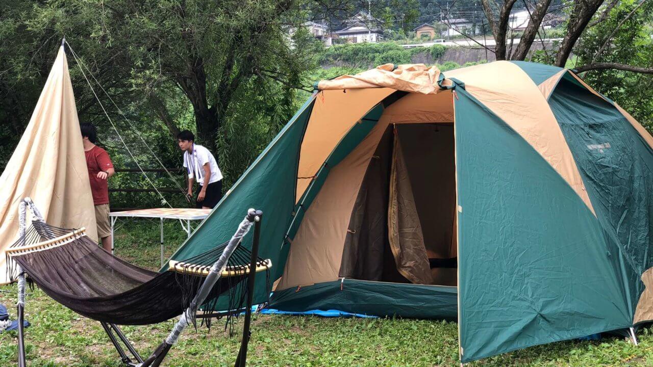 初テントは安定のコールマン