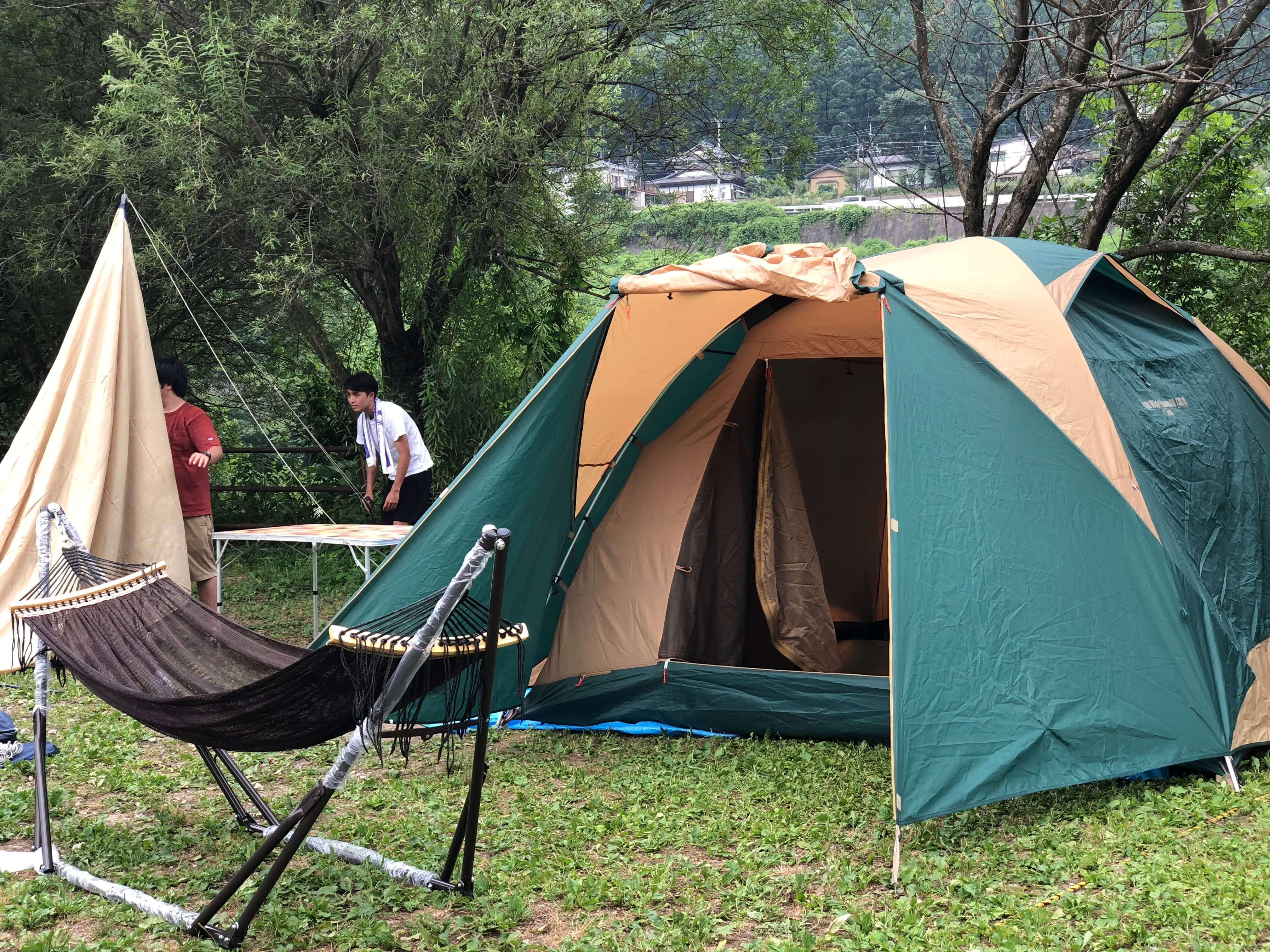 テント一式をレンタル