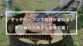 ダッチオーブンでキャンプ飯!鶏の丸焼きも実現可能