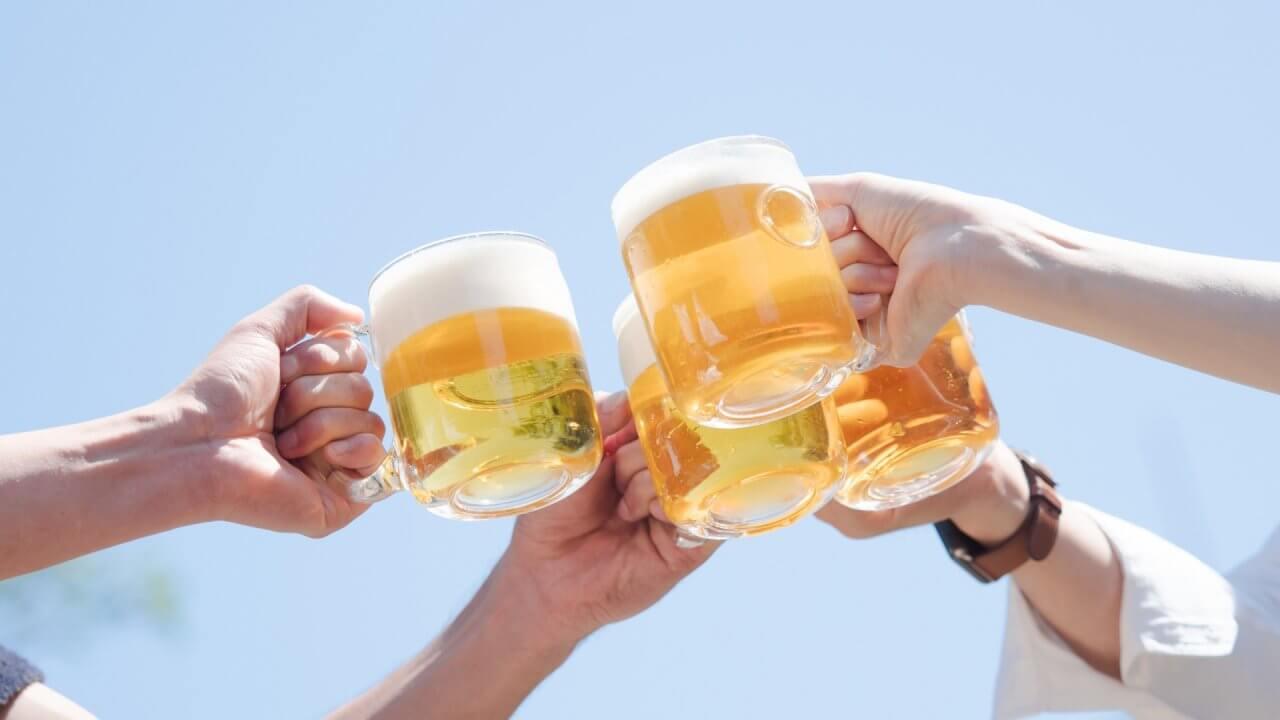 冷えたビールは最高