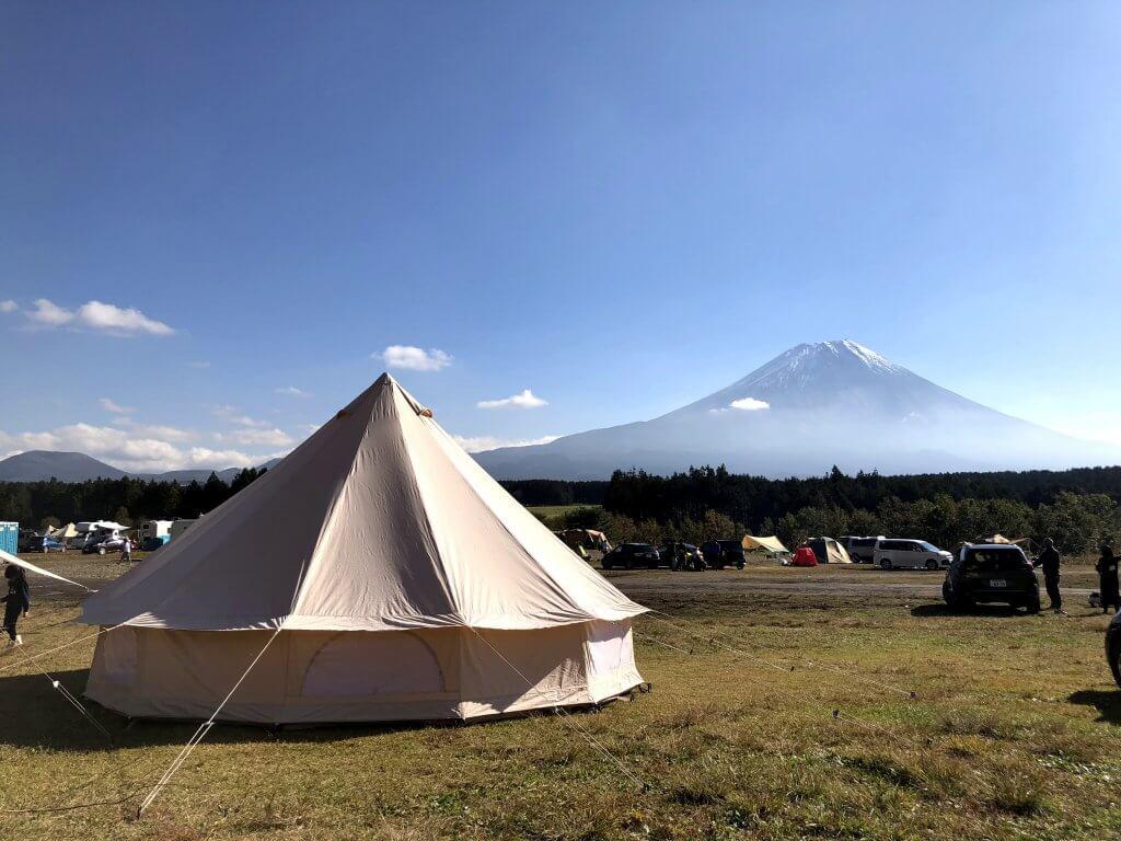 アスガルドと富士山inふもとっぱら