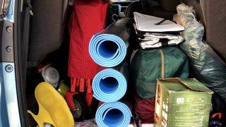 キャンプ荷物を効率よく乗せよう