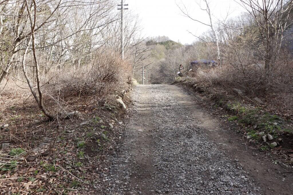 【桐の木平キャンプ場】区画サイトへの道のり