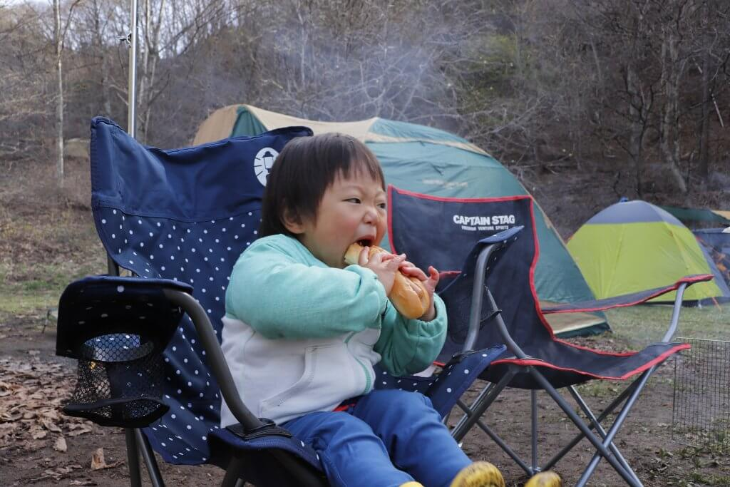 【桐の木平キャンプ場】朝食うまし