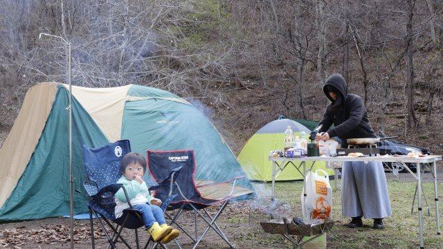 2歳6ヶ月でキャンプデビュー