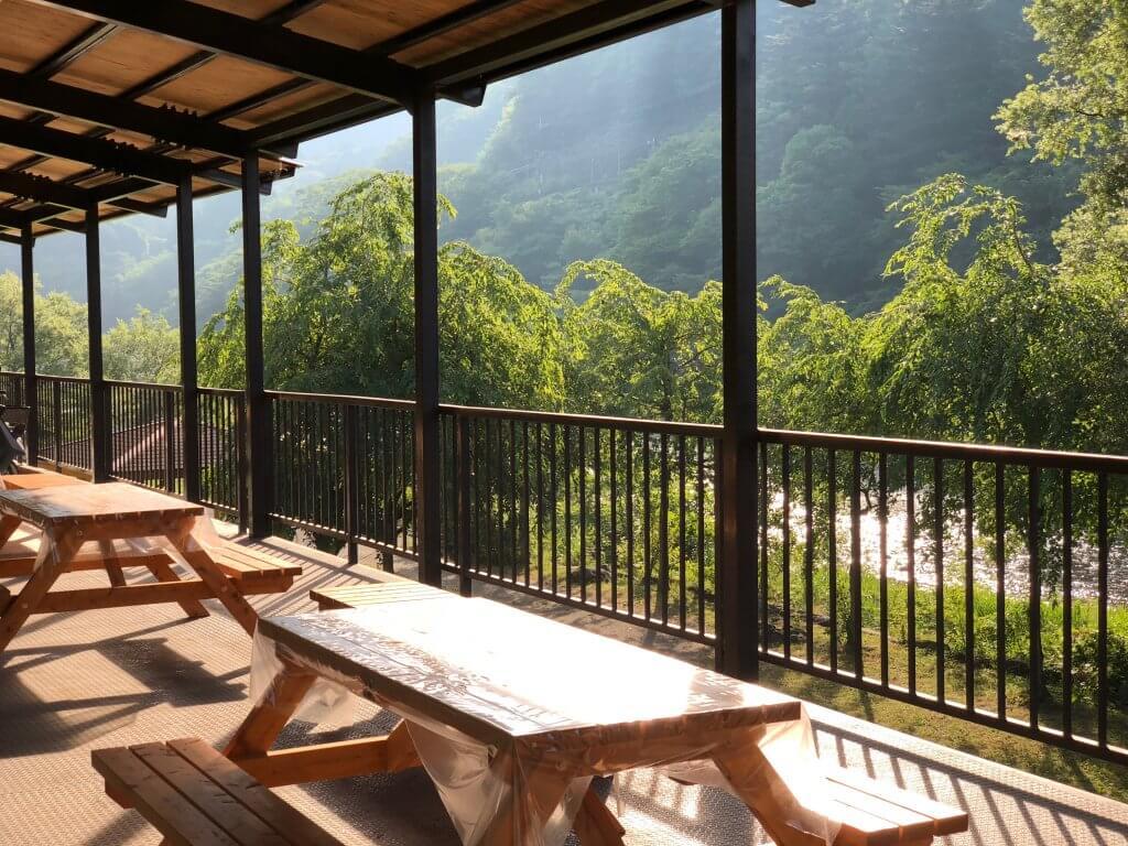 鬼怒川温泉オートキャンプ場の休憩スペース