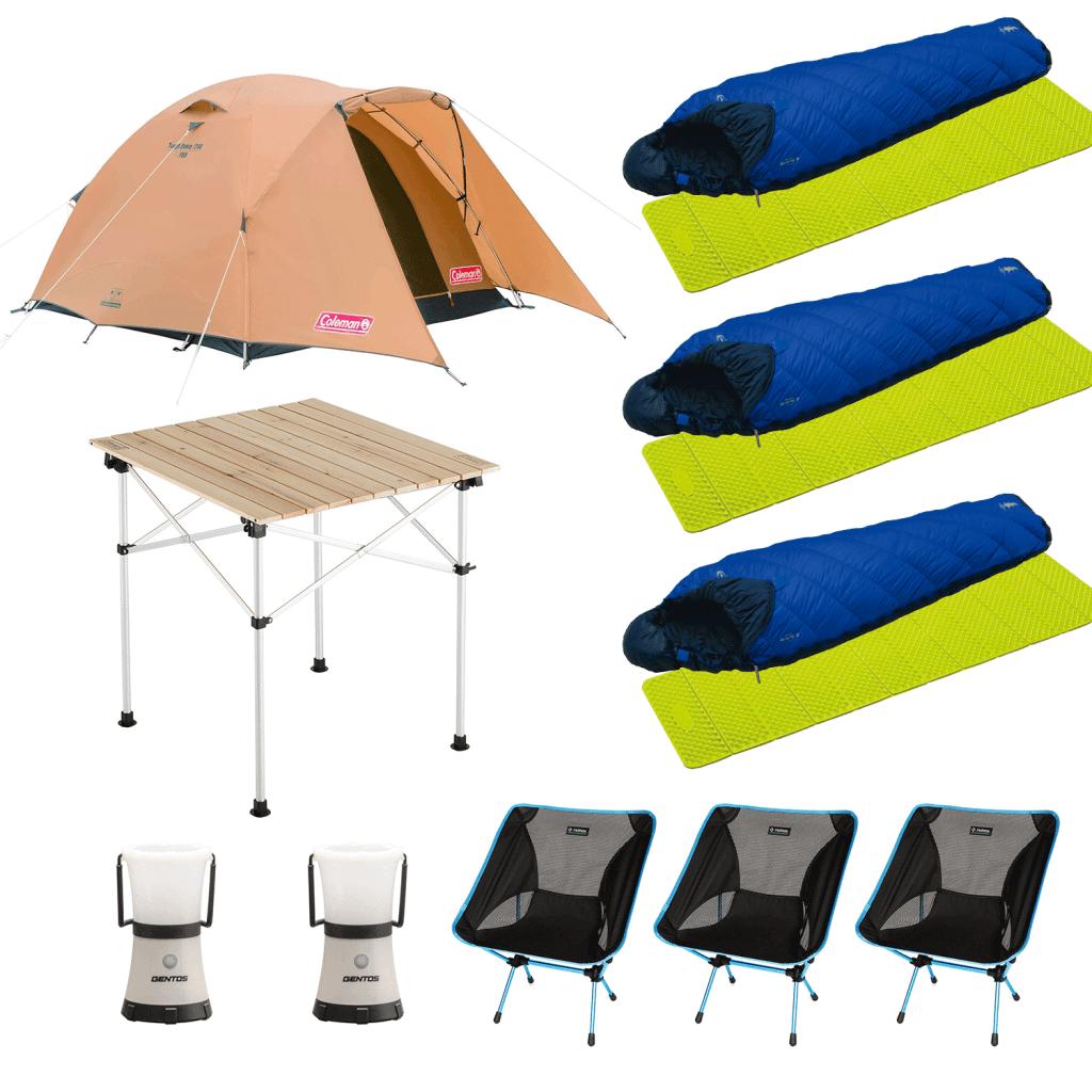 hinataレンタルのキャンプ道具イメージ