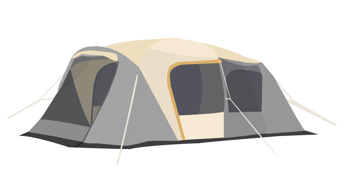 ファミリーにおすすめの2ルーム型テント