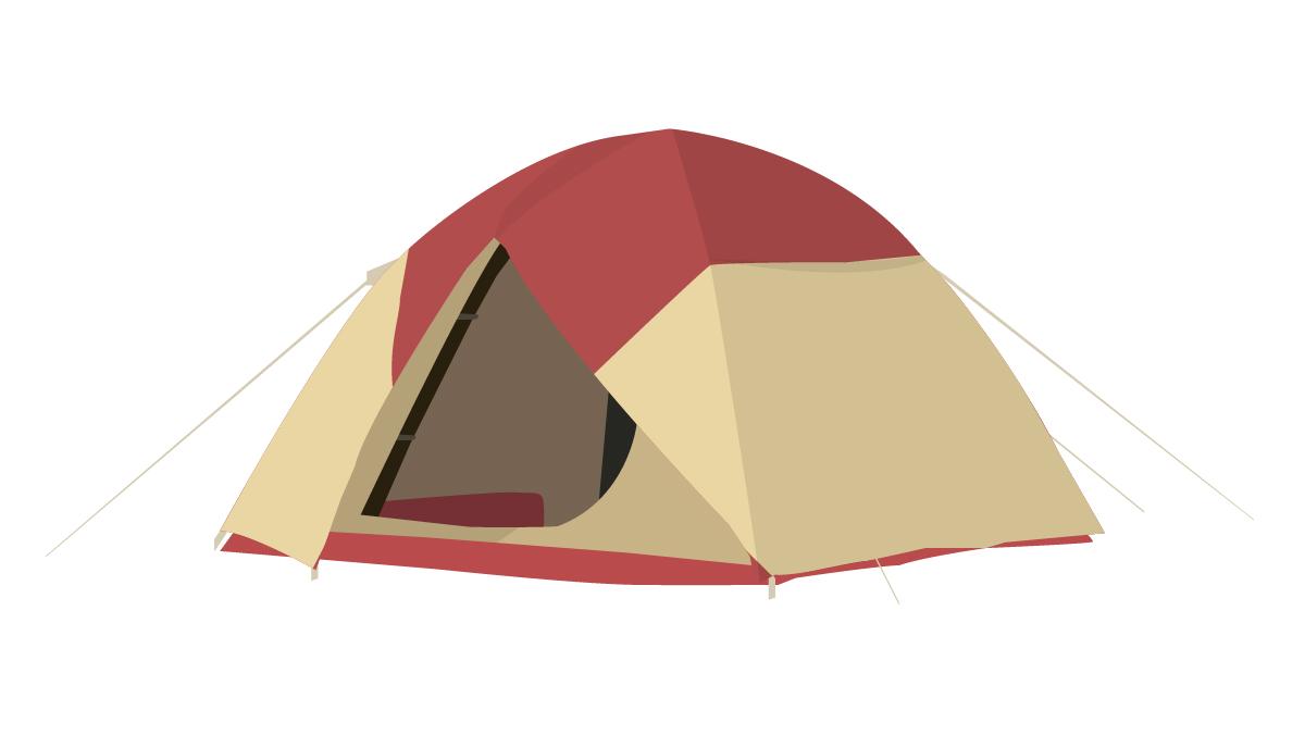最初はみんな選ぶドーム型テント