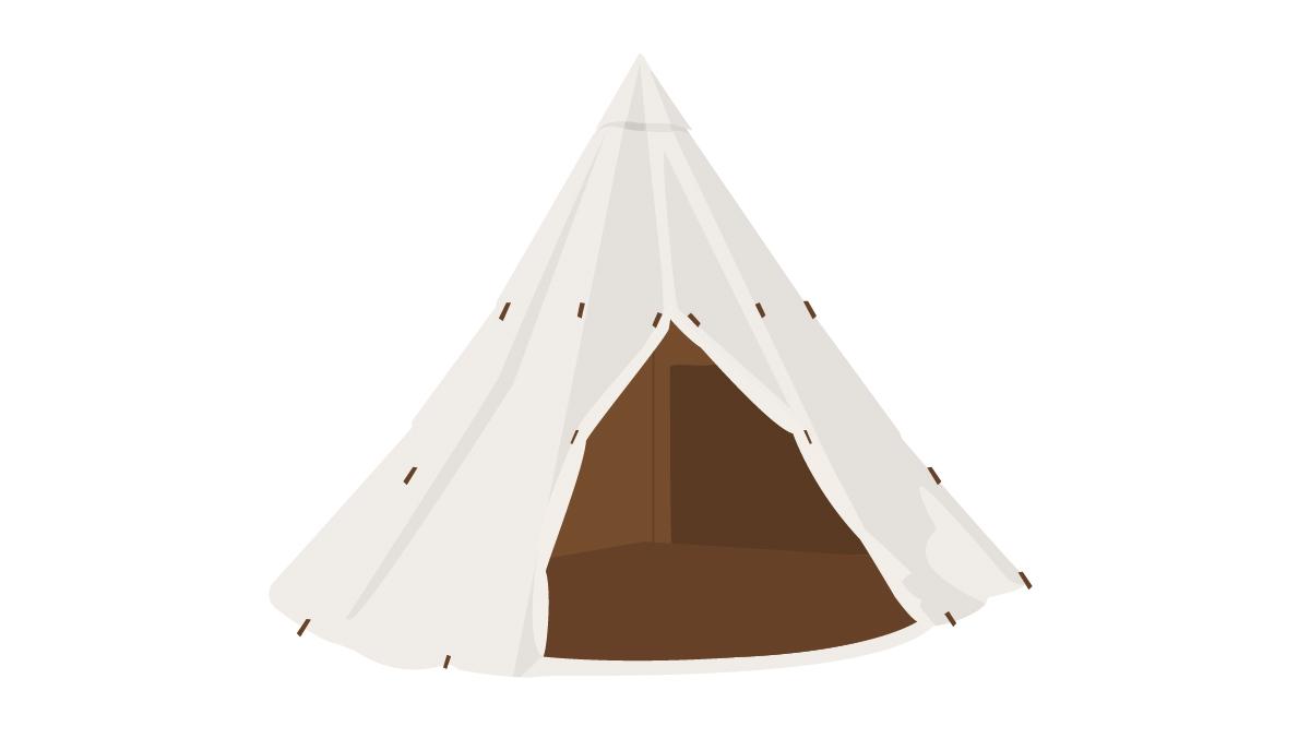 雰囲気最高のワンポール型テント