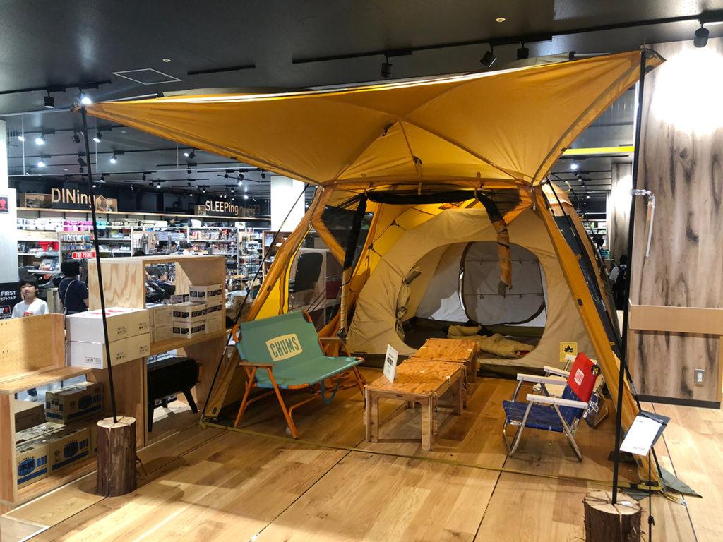テントはいくつか既存で設置済み