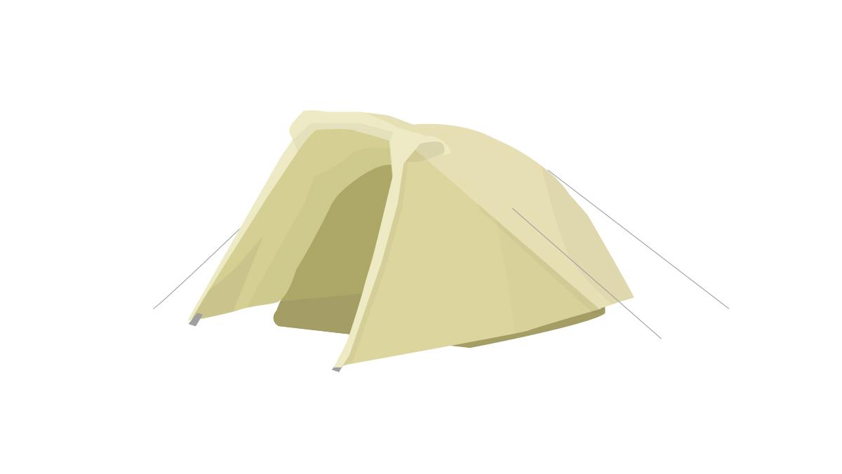 お一人キャンプに最適なソロキャン型テント