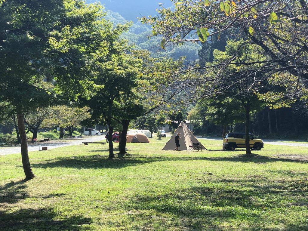 青根キャンプ場のフリーサイト