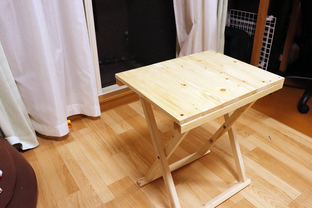実際の自作テーブル