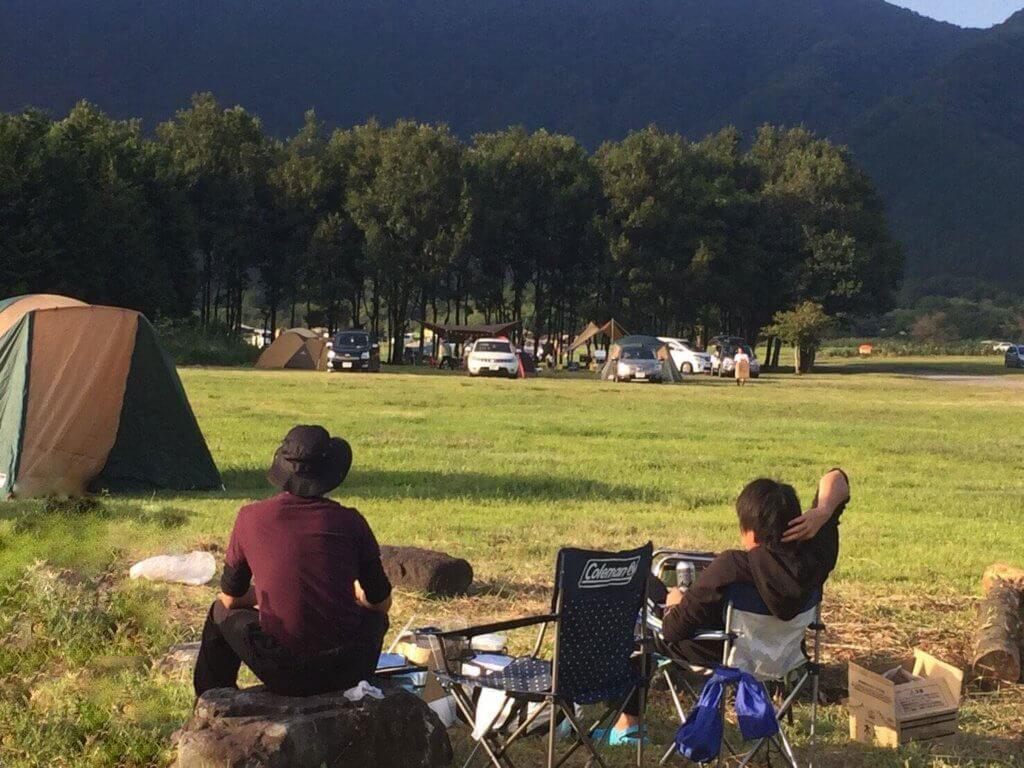 初キャンプ時の実際のくつろぎシーン