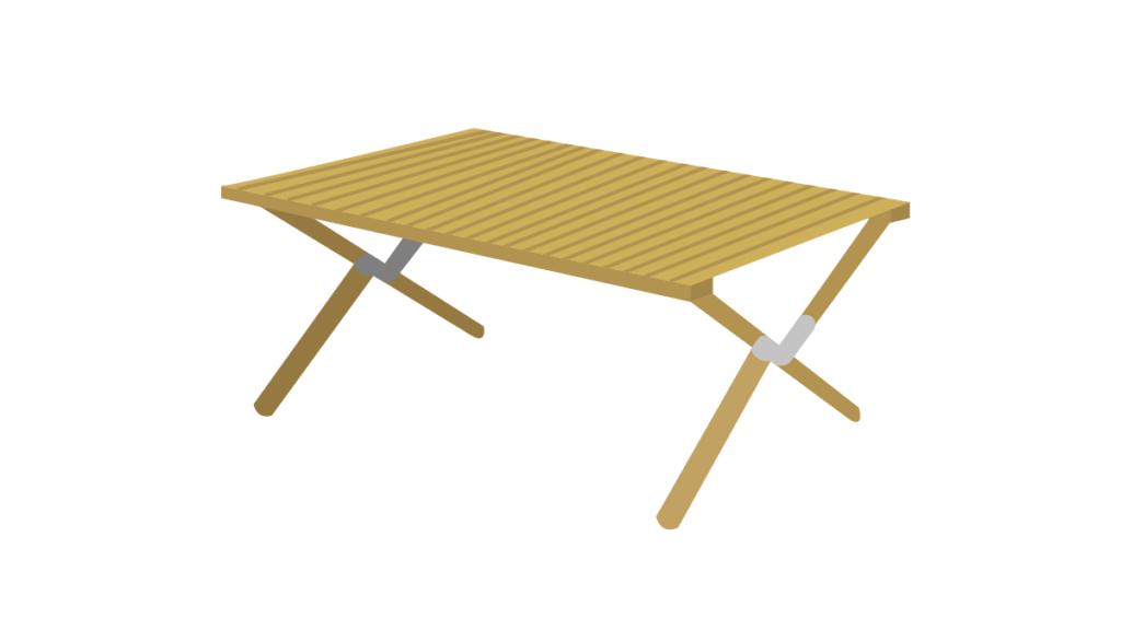キャンプ初心者に必要なテーブル
