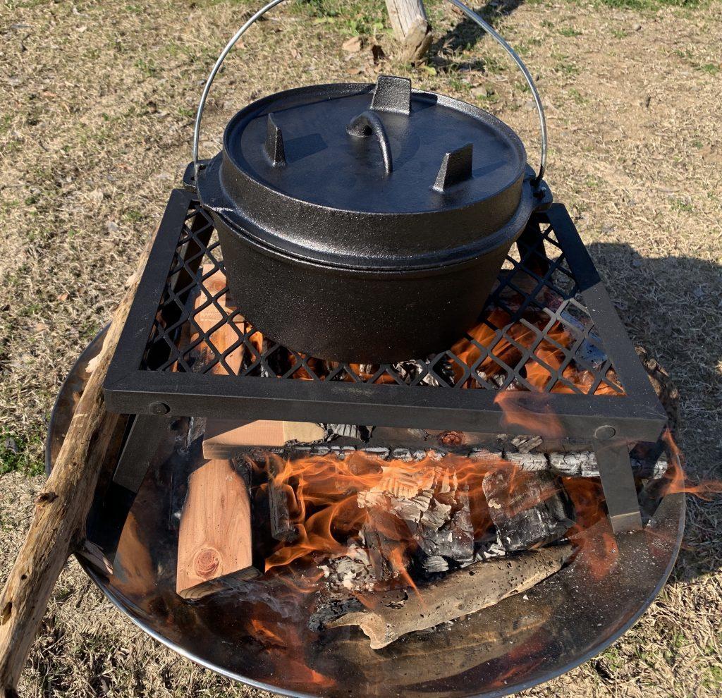 ファイアディスクにダッチオーブンを活用する小技