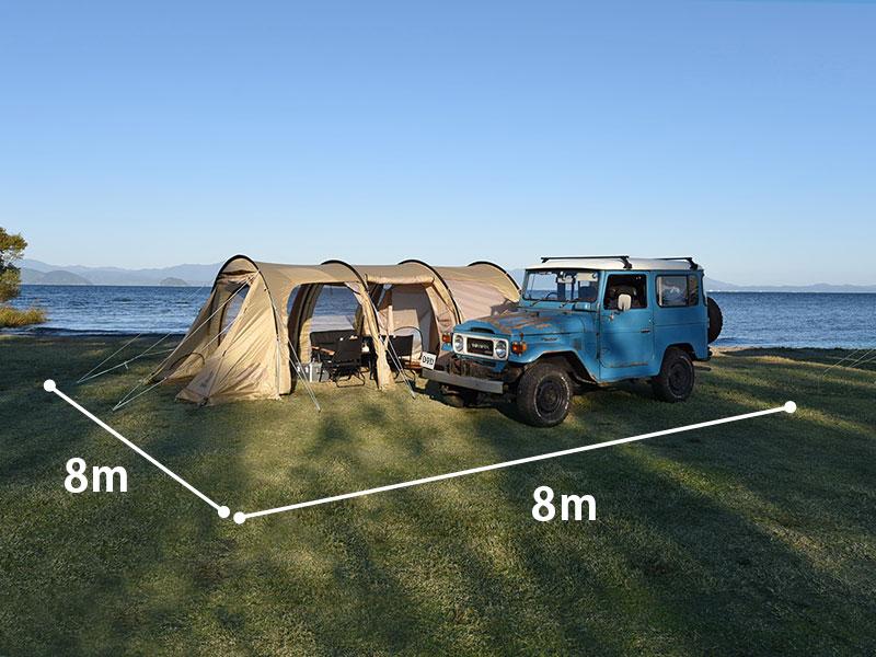 カマボコテントの大きさ