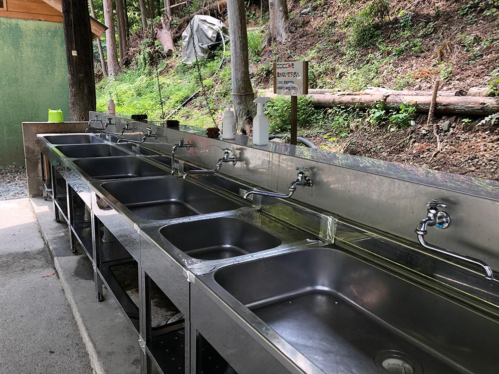 炊事場はお湯がでない