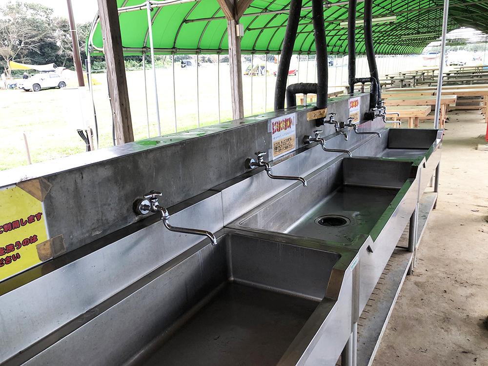 成田ゆめ牧場ファミリーキャンプ場の炊事場