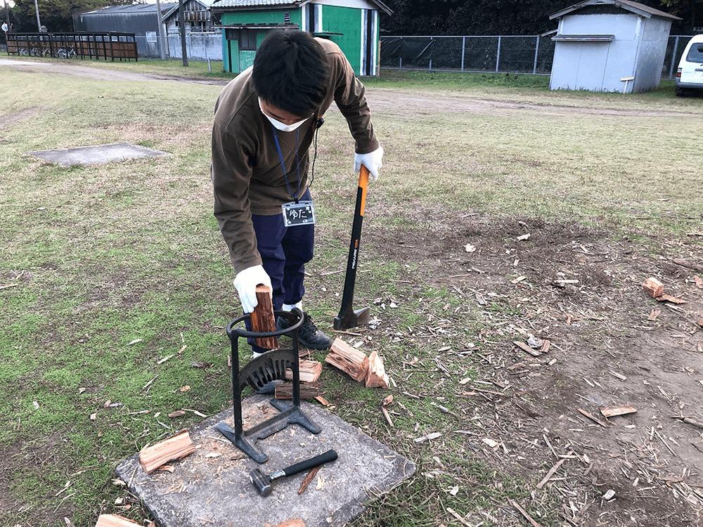 薪割りを楽にする道具