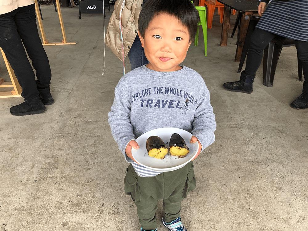 初めての焼き芋体験