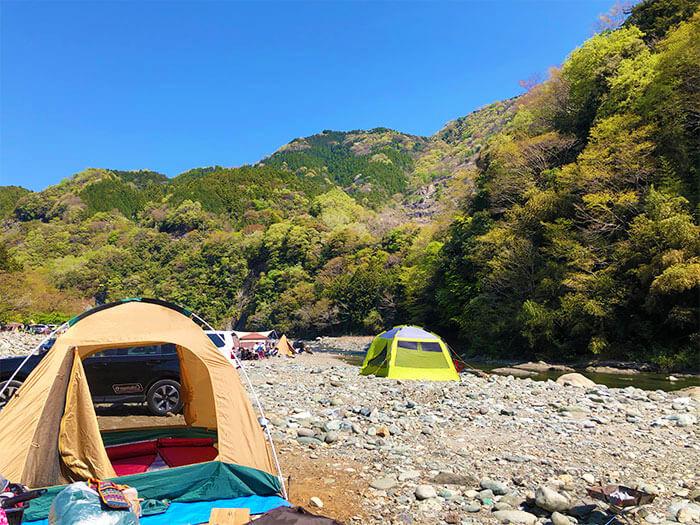 青野原オートキャンプ場のデイキャンプゾーン
