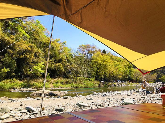 青野原オートキャンプ場のデイキャンプサイト