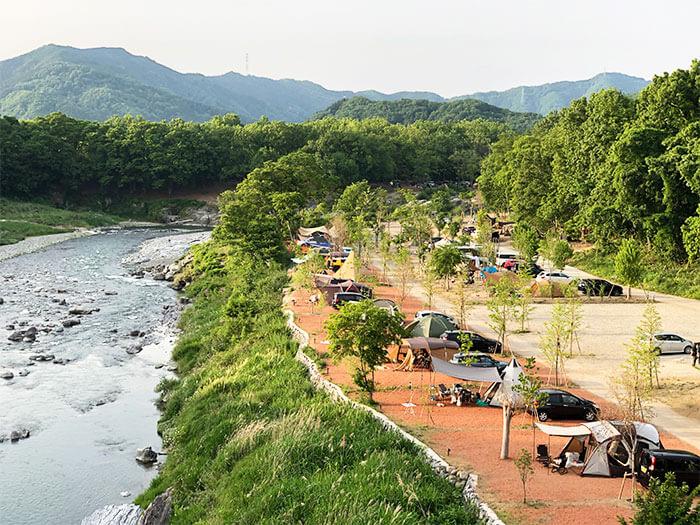 長瀞オートキャンプ場は7つの区画サイトから選べる