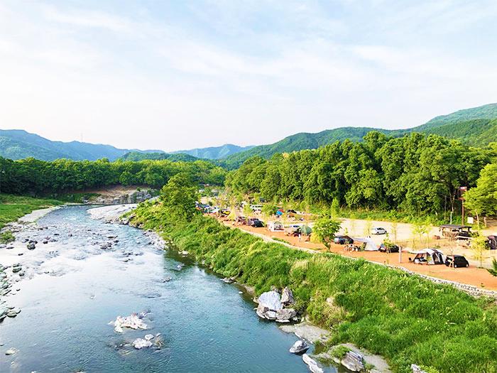 【長瀞オートキャンプ場】圧巻の景色